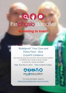 CrossFit Canberra hosts The Bulletproof Your Core and pelvic Floor Course