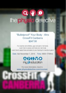 "The Physio Detective's ""Bulletproof"" Your Body Seminar in Canberra"